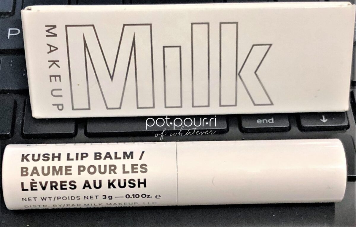 PACKAGING MILK MAKEUP KUSH LIP BALM WITH CBD COMPOUND