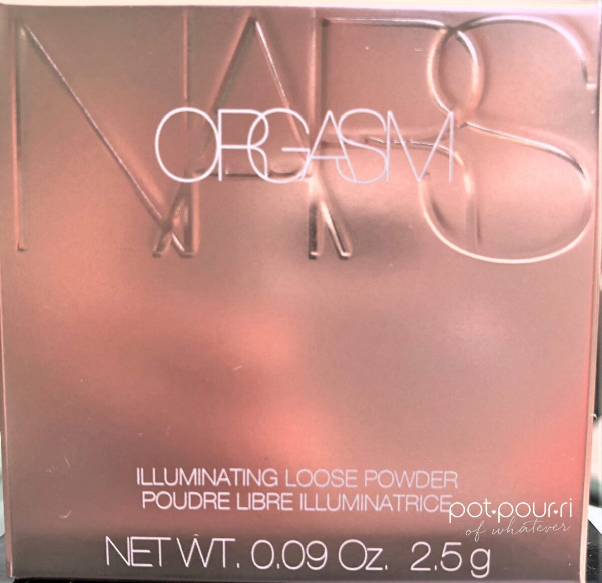 NARS ILLUMINATING LOOSE POWDER PACKAGING