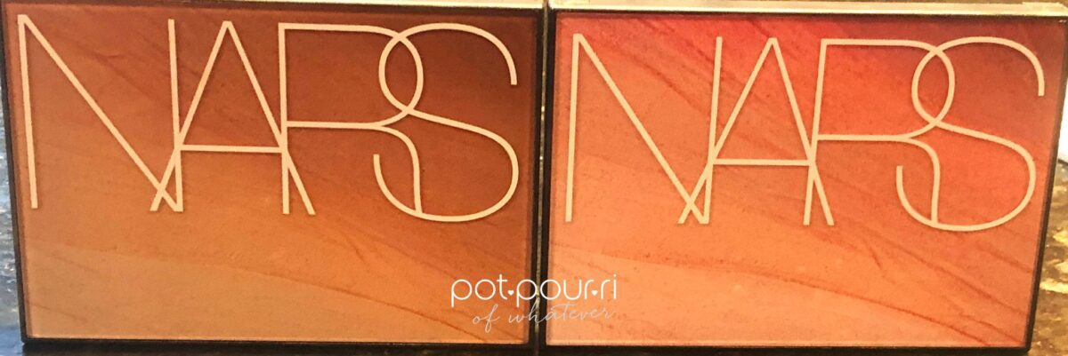 NARS SUMMER LIGHTS HOT NIGHTS SUMMER PALETTES OUTER BOXES PACKAGING