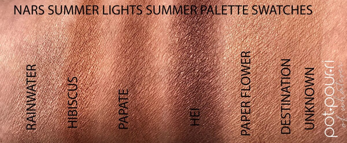 NARS SWATCHES SUMMER LIGHTS