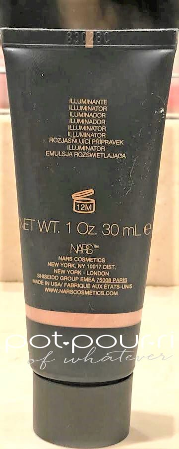 BACK OF THE NARS SUPER RADIANT BOOSTER