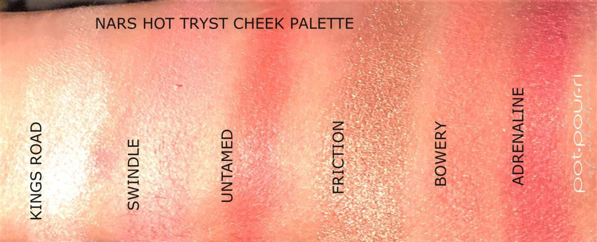 SWATCHES NARS HOT TRYST CHEEK PALETTE
