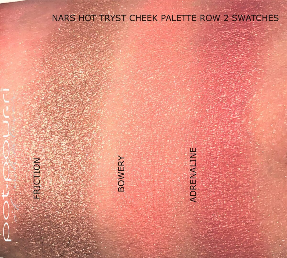 HOT TRYST PALETTE SWATCHES