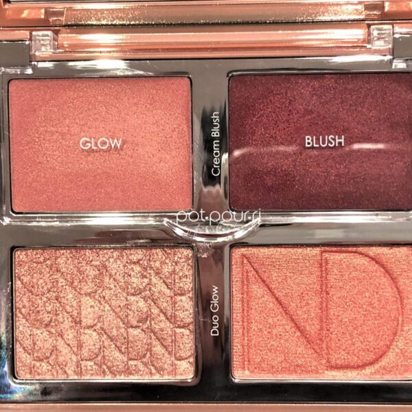 NATASHA DENONA BLOOM BLUSH GLOW PALETTE TOP TWO CREAM SHADES COVERED WITH PLASTIC FLIP LID