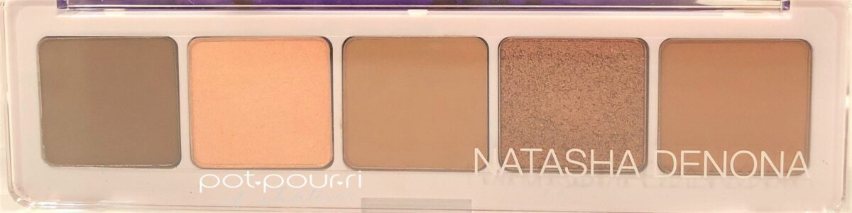 NATASHA DENONA CAMEL EYE SHADOW PALETTE COMPACT WITH CLEAR COVER