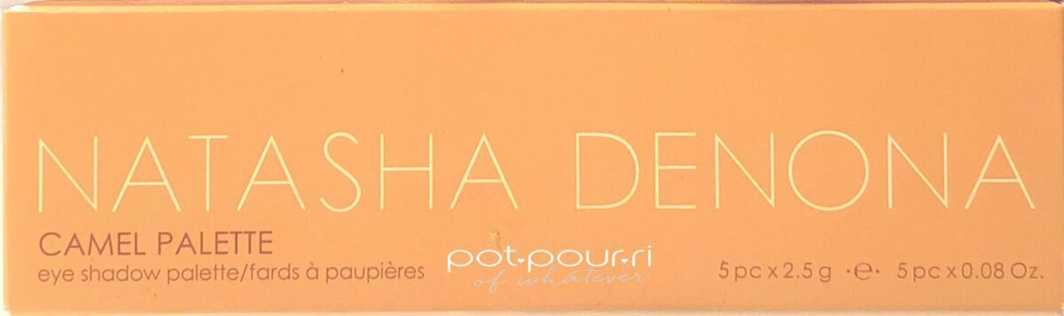 NATASHA DENONA CAMEL EYE SHADOW PALETTE PACKAGING BOX