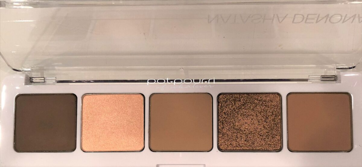 NATASHA DENONA CAMEL PALETTE SHADES FROM LEFT ARROSTO, DUNE, SAFARI, COPPER STONE, ZAND