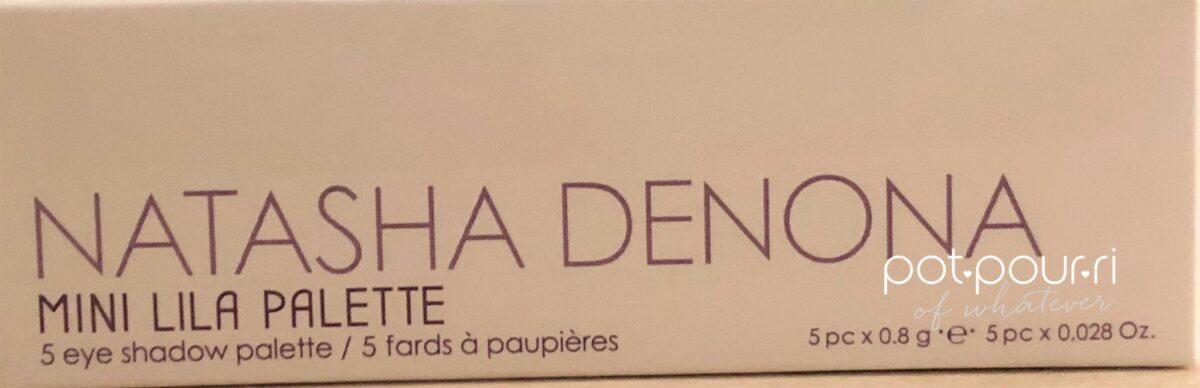 NATASHA DENONA MINI LILA PALETTE PACKAGING BOX