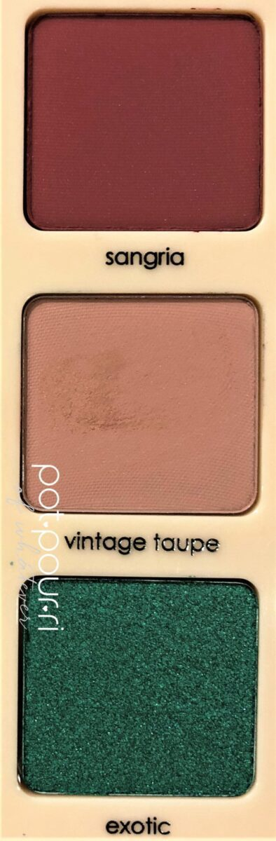 LOOK TWO IS SANGRIA, VINTAGE TAUPE AND EXOTIC