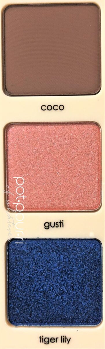 SWATCHES OF COCO, GUSTI AND TIGER LILY