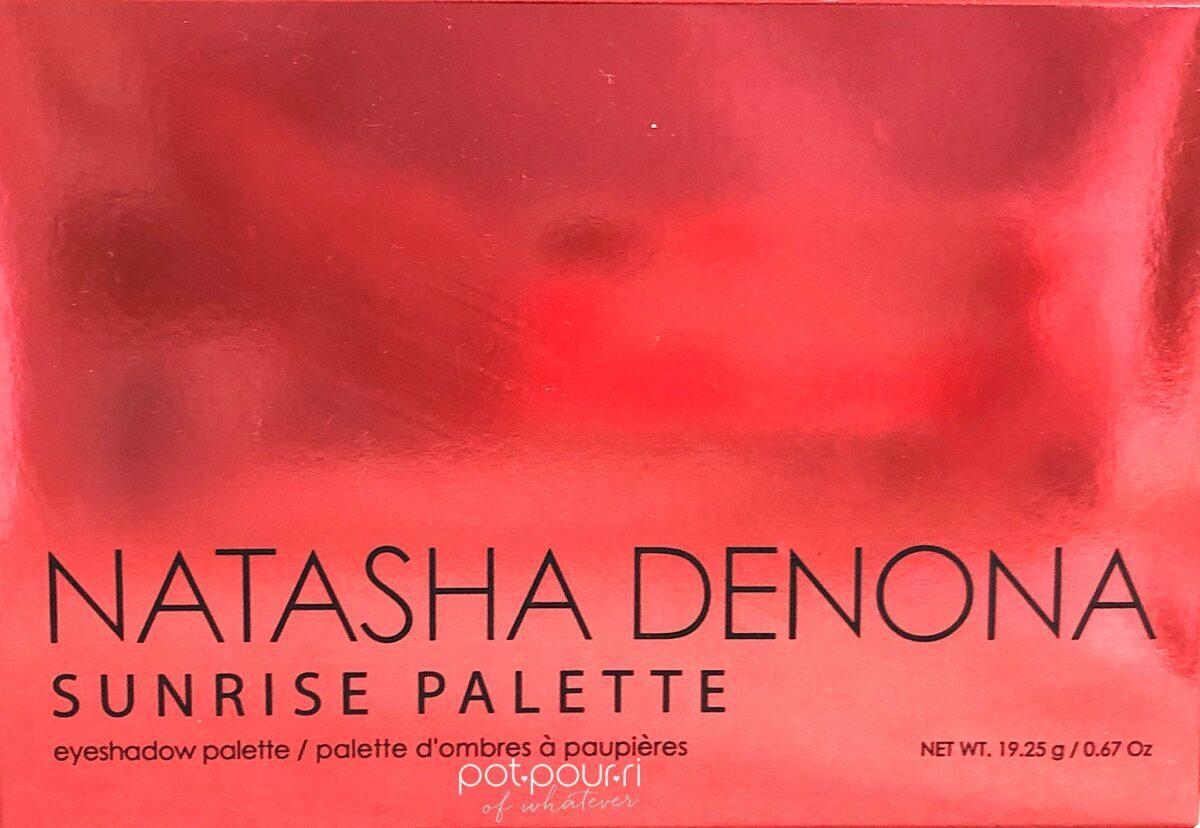 THE NATASHA DENONA SUNRISE EYESHADOW PALETTE PACKAGING- OUTER BOX IN SUNRISE SHADES