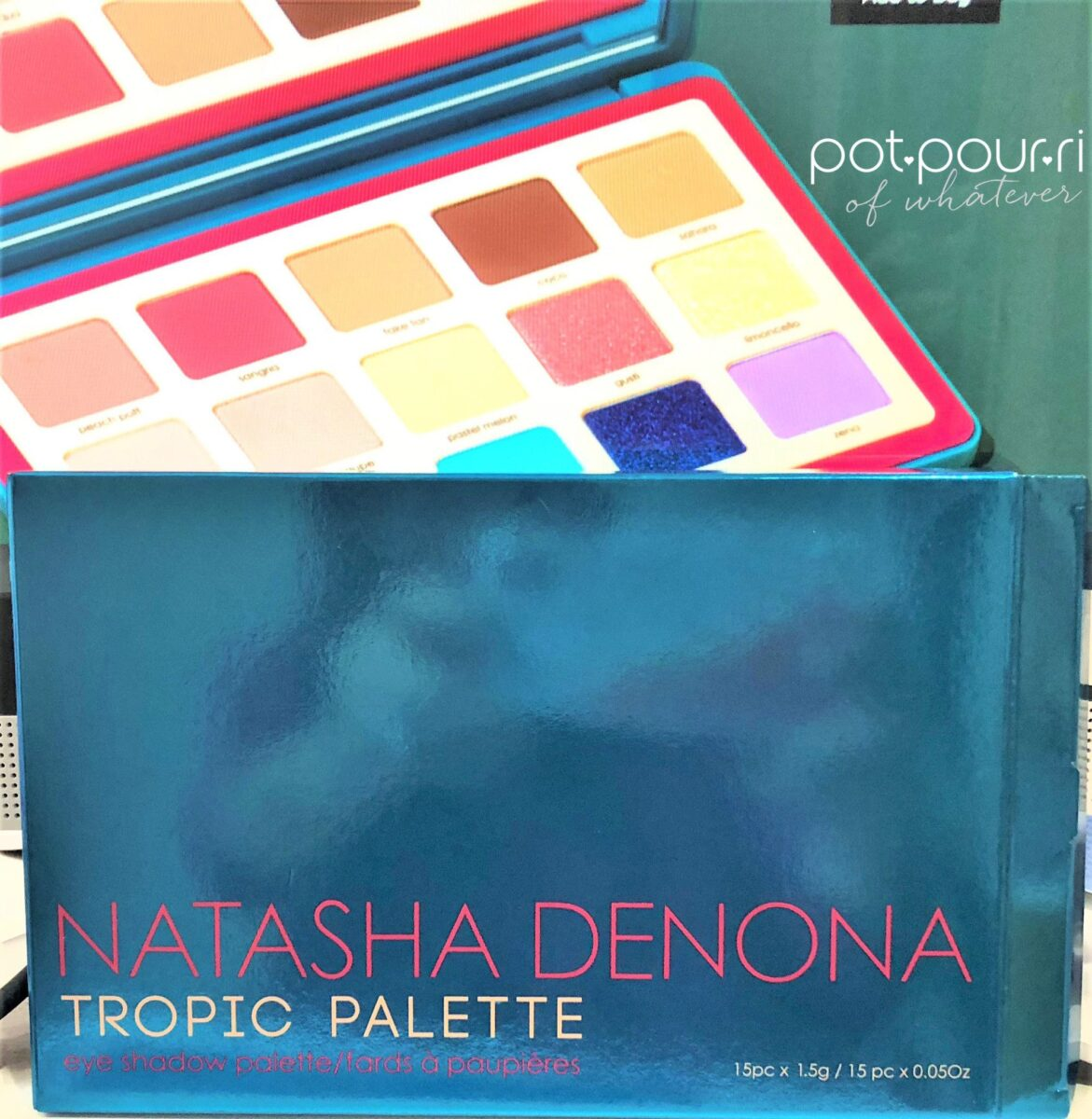 NATASHA-DENONA-TROPIC PALETTE PACKAGING FOIL BOX