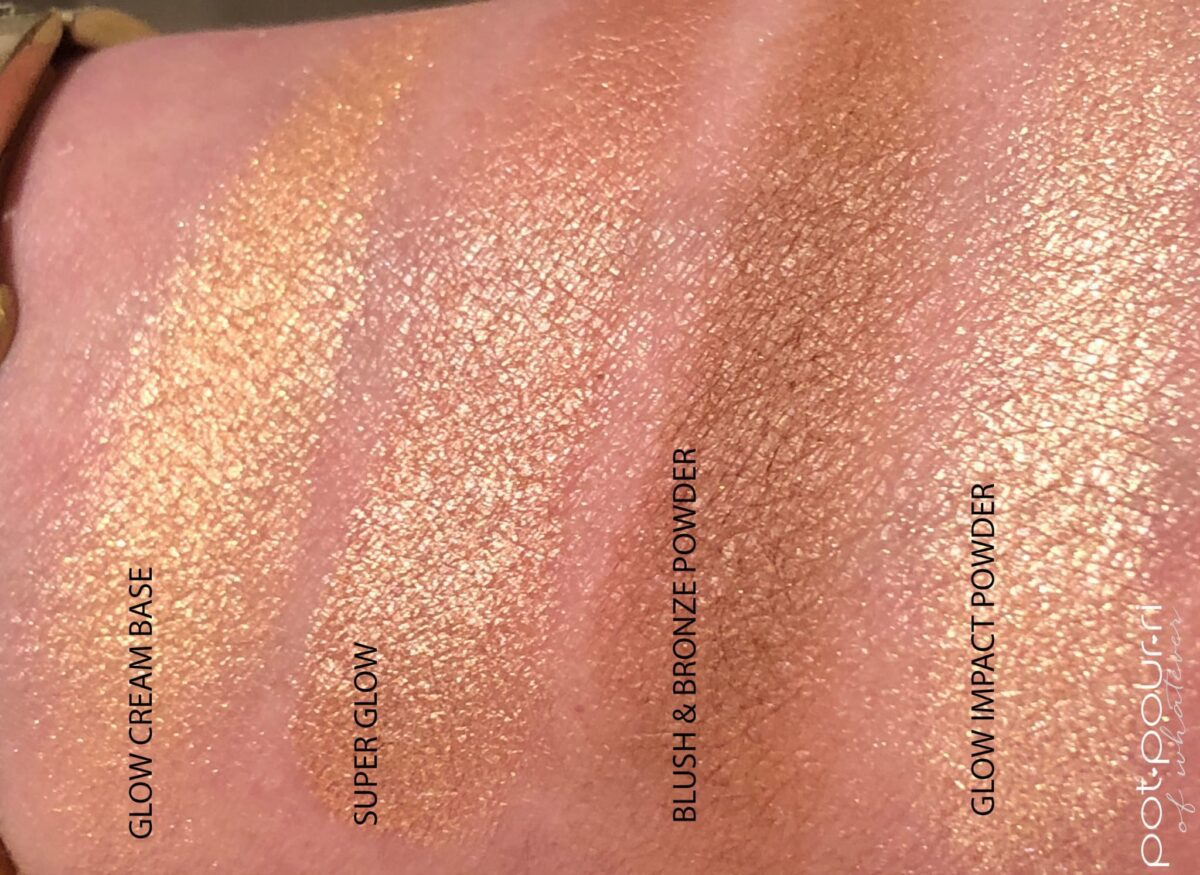 ND BRONZE AND GLOW TAN FACE PALETTE SWATCHES