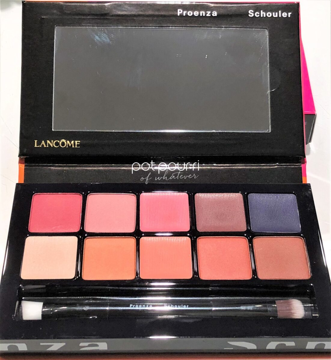 CHROMA PALETTES INCLUDE MIRROR, DOUBLE ENDED APPLICATION BRUSH AND TEN EYE SHADOWS