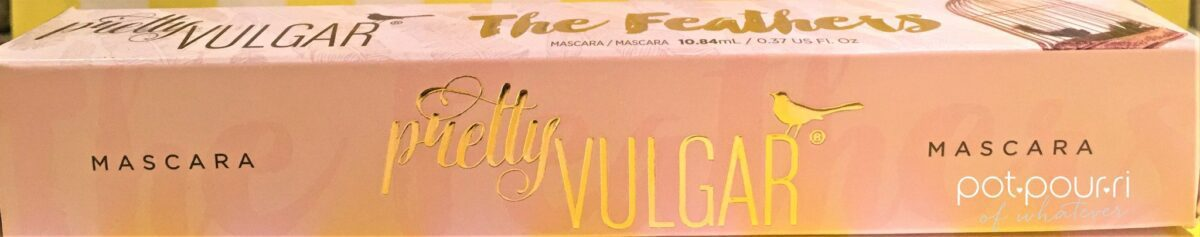 Pretty Vulgar Feathers Mascara box