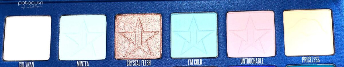 JEFFREE STAR BLUE BLOOD EYESHADOW PALETTE ROW 1