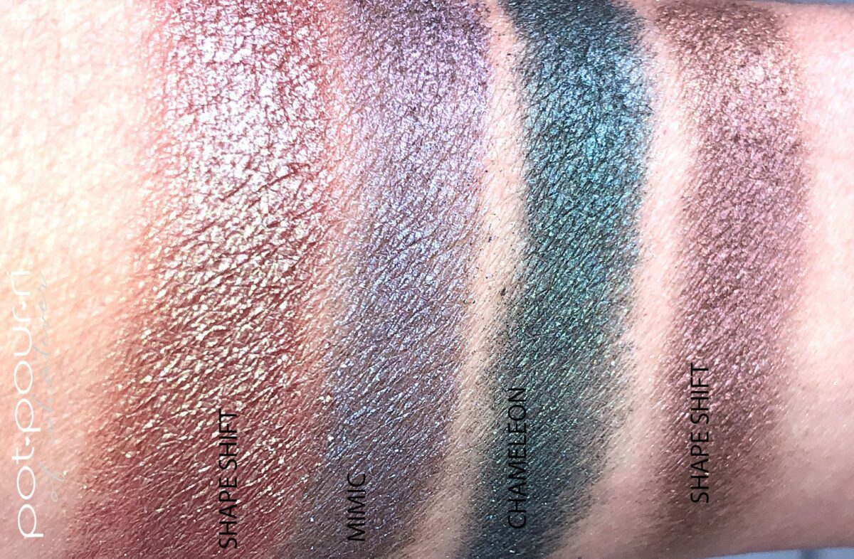 THE SHADE SHIFTER SWATCH WITH A SHIFT IN SHADE COLOR