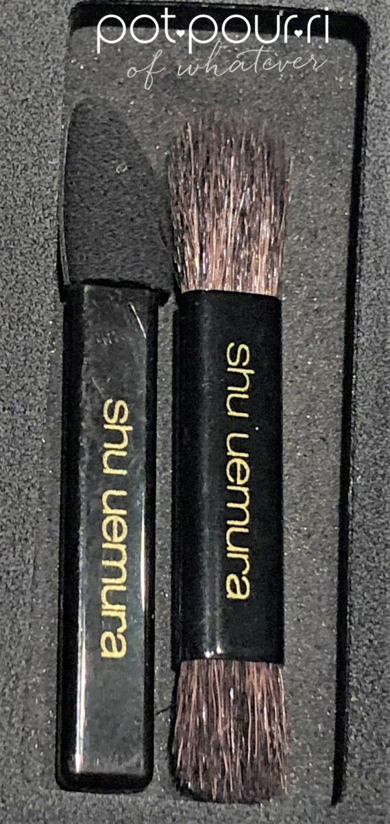 SHU UEMURA x LA MAISON DU CHOCOLATE EYE PALETTE DARK CACAO COMES WITH SPONGE BRUSH AND DOUBLE ENDED SHADOW BRUSH