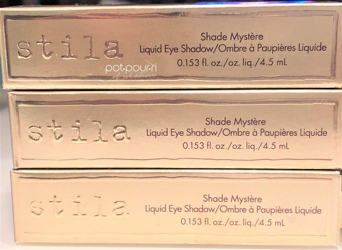 Stila Shade Mystere Liquid Eye Shadow Packaging Box
