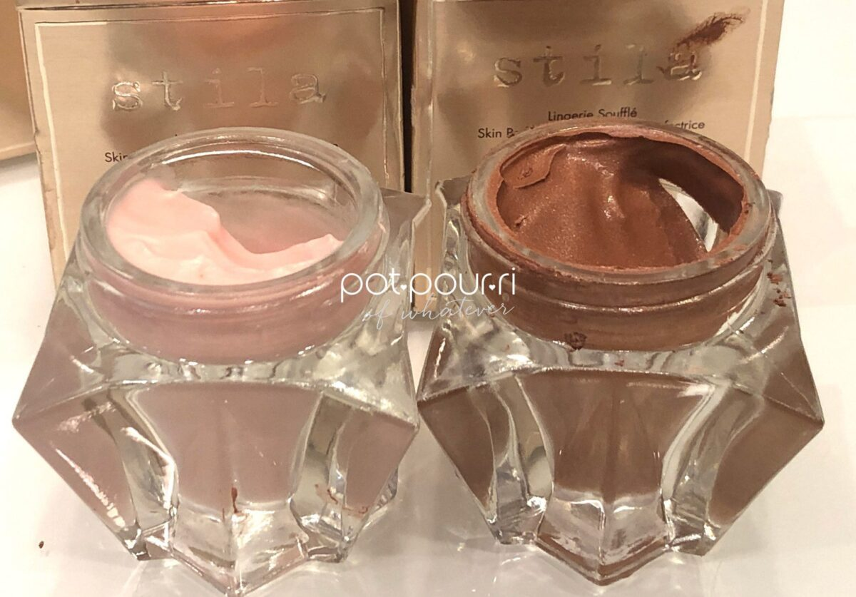 THE LEFT SHADE IS THE SHEER ILLUMINATING PRIMER, AND THE RIGHT SHADE IS THE SUN-KISSED PRIMER