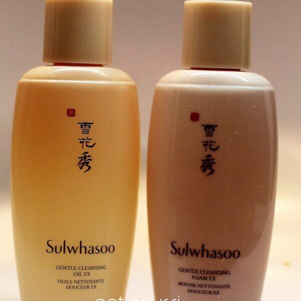 Double Cleansing Oil and Foam cleansers from Sulwhasoo