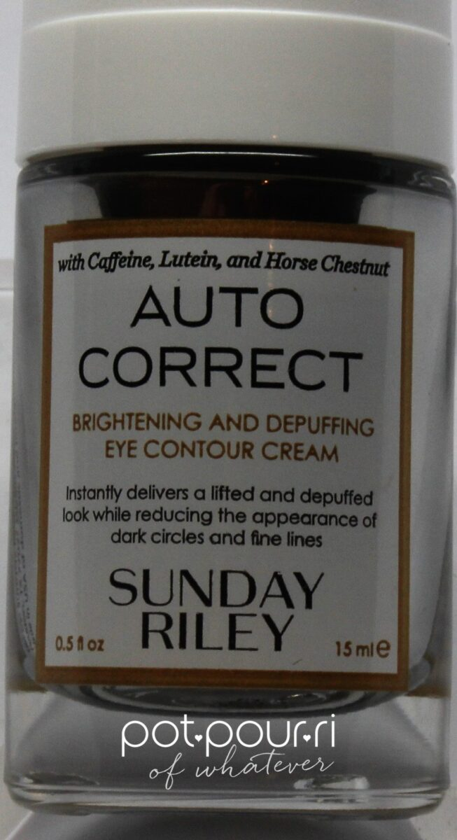 Sunday Riley Auto Correct Eye Cream Bottle
