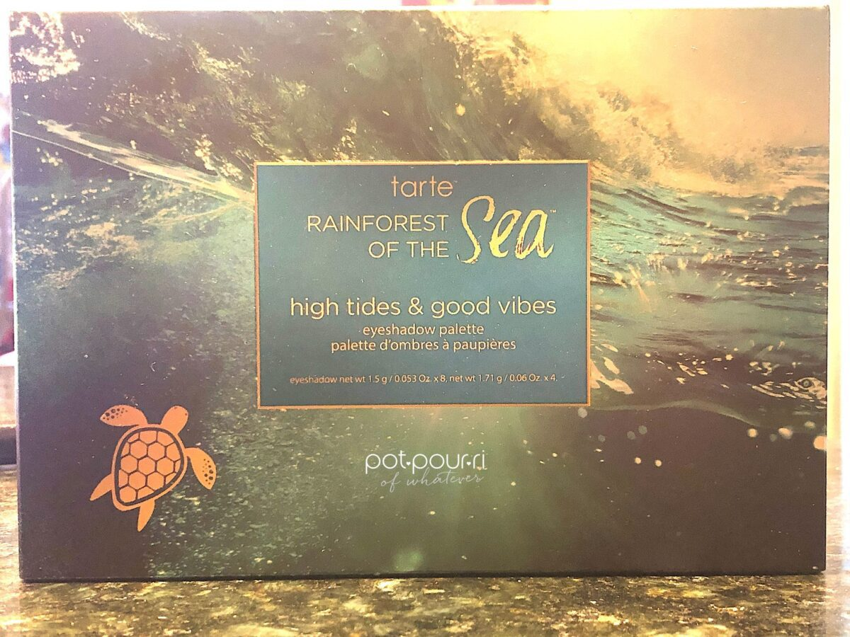 TARTE HIGH VIBES LOW TIDES EYESHADOW PALETTE PACKAGING BOX