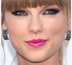 pink lip/cat eye