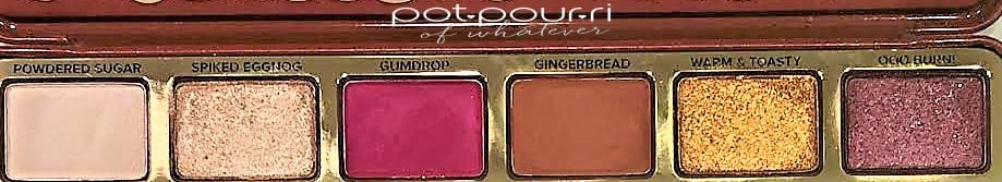 TOO FACED GINGERBREAD SPICE EYE SHADOW PALETTE ROW 1