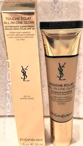 YSL TOUCHE ECLAT ALL OVER GLOW TINTED MOISTURIZER BD 40 WARM SAND SPF 23