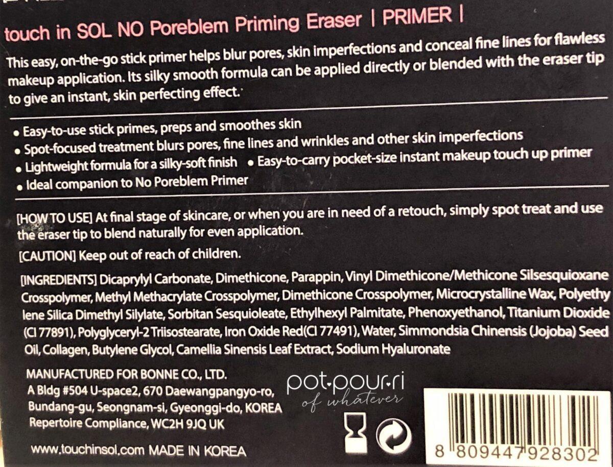 No Poreblem Priming Eraser Touch in Sol