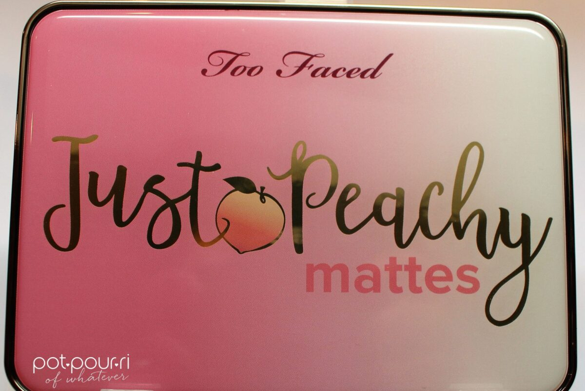 cover of compact with Two Faced Peachy Matte Eyeshadows