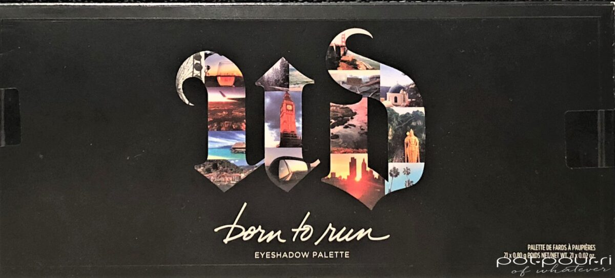THE URBAN DECAY BORN TO RUN EYE SHADOW PALETTE PACKAGING BOX