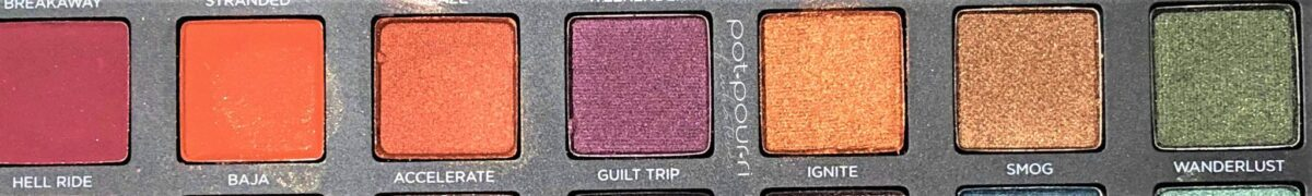 ROW TWO IN BORN TO RUN EYE SHADOW PALETTE