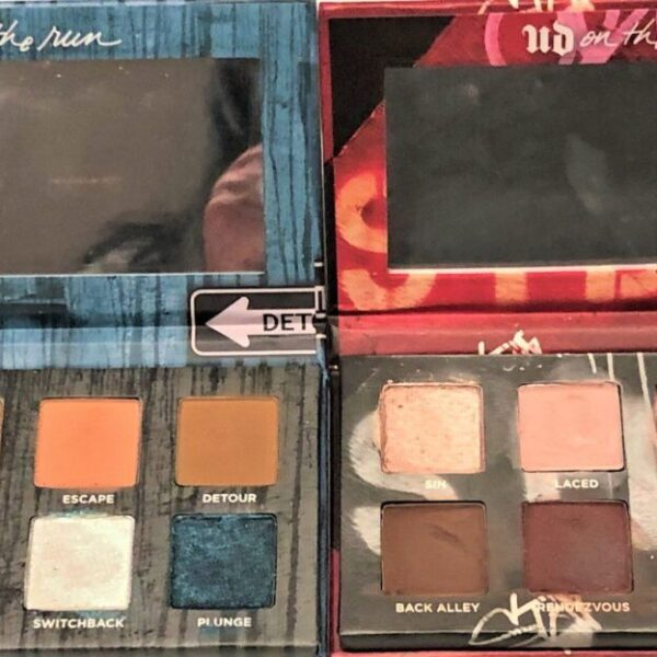 URBAN DECAY ON THE RUN MINI EYE SHADOW PALETTES DETOUR AND SHORTCUT
