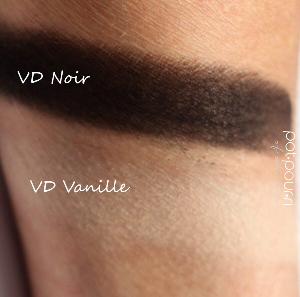 noir/vanille swatched