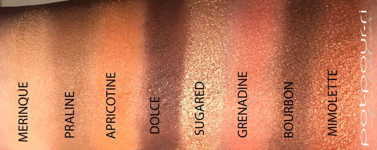 SWATCHES FOR APRICOTINE PALETTE