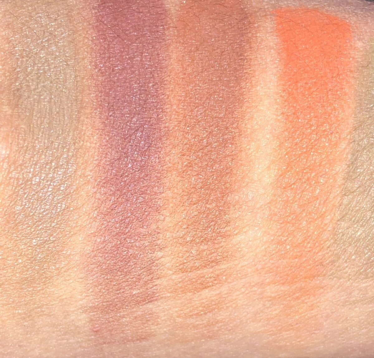 ROW 1 SWATCHES LEFT TO RIGHT : TOFFEE, SIENNA, SEPIA, AND PERSIMMON