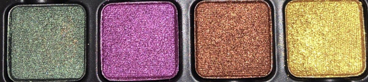ROW 3 OF THE VISEART DARK EDIT EYESHADOW PALETTE