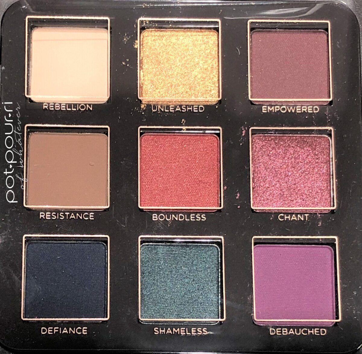 VISEART LIBERTINE EYE SHADOW PALETTE SHADES