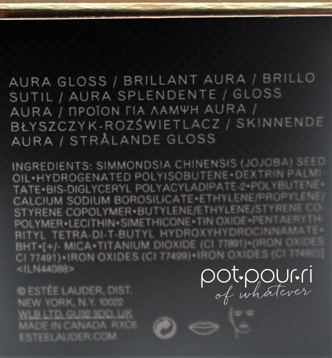 Aura Gloss ingredients