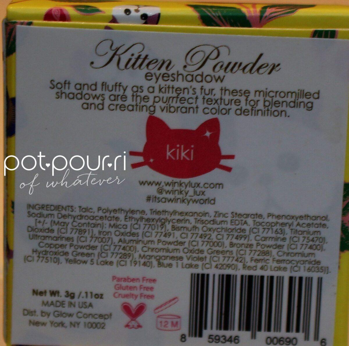 Kiki ingredients