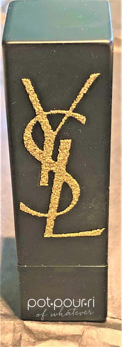 YSL NEW MATTE PACKAGING WITH GOLD GLITTER LOGO