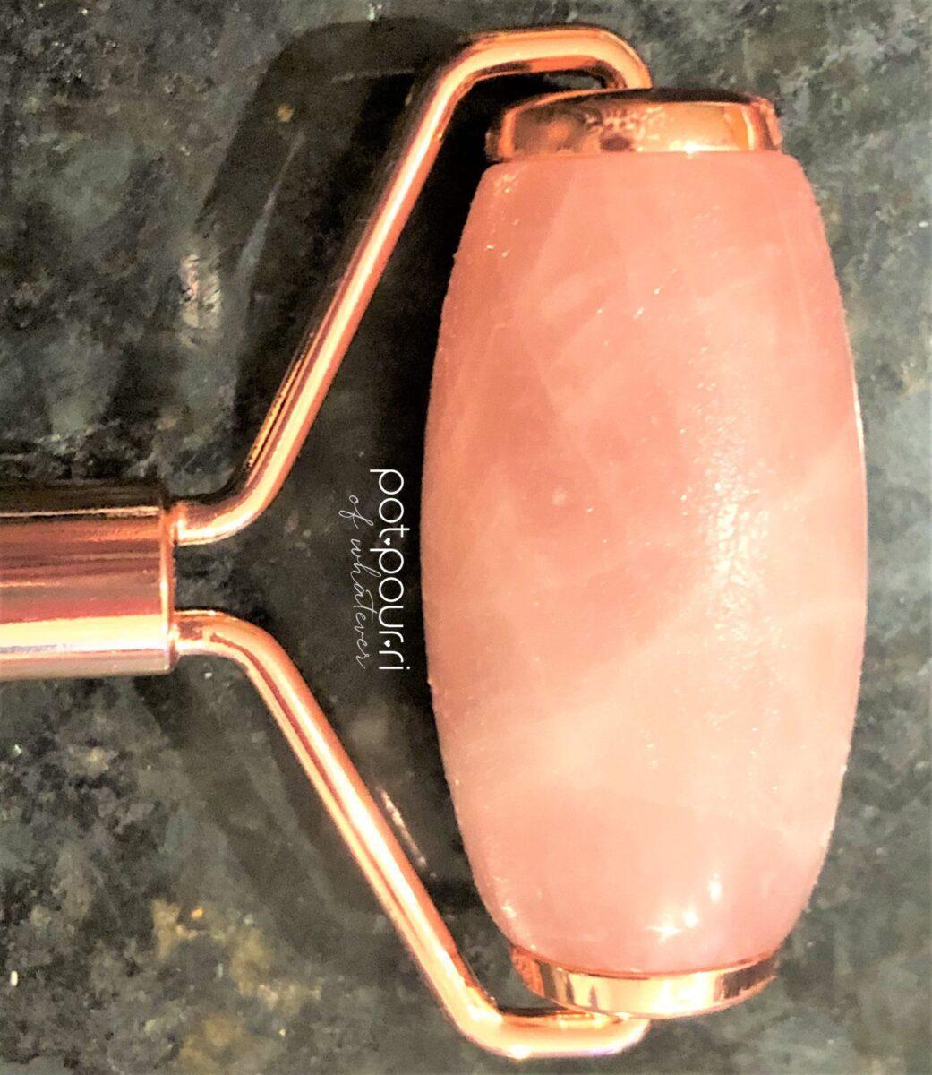 beauty bio rose quartz roller large side