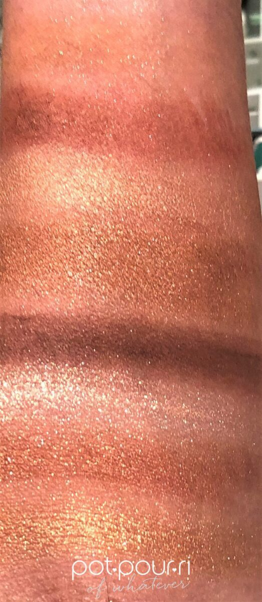 SWATCHES OF BOBBI BROWN INFRA RED EYE SHADOW PALETTE