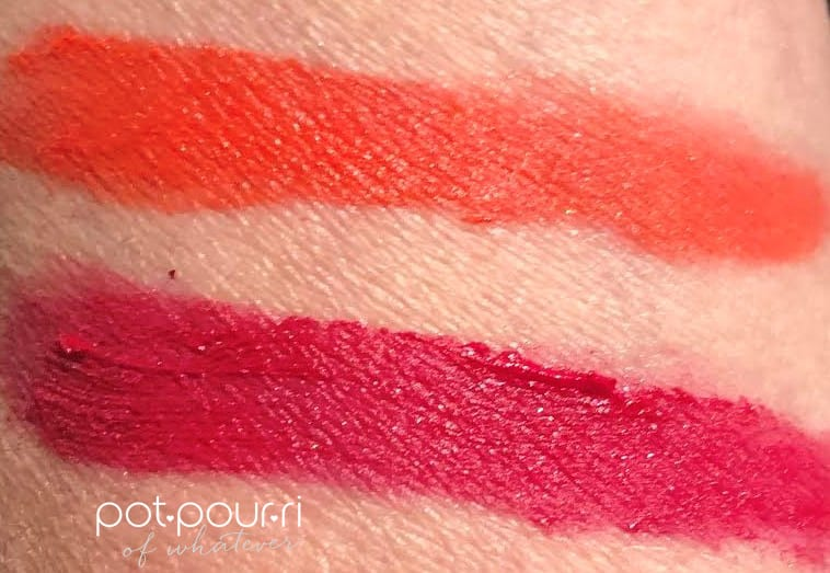 SWATCHES TOP ELECTRIC BLOSSOM BOTTOM VOLUPE