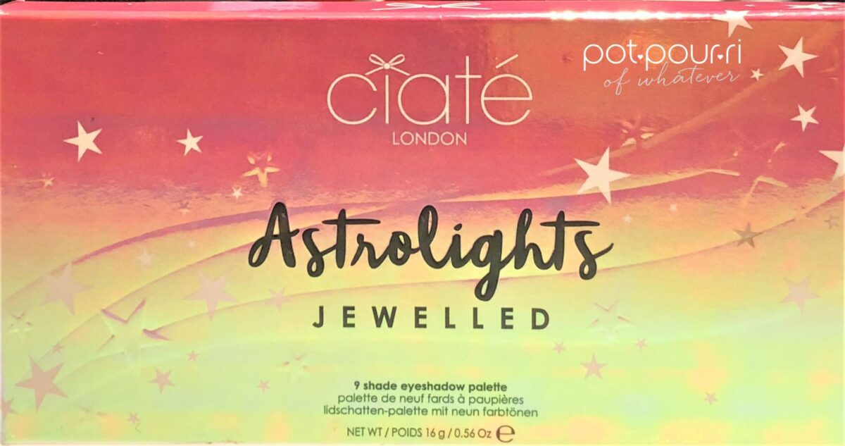 JEWELLED CIATE ASTROLIGHTS PALETTE PACKAGING