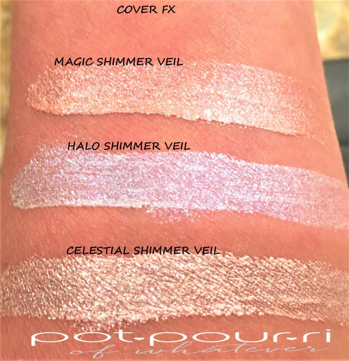 COVER FX VEIL SWATCHES MAGIC, HALO, CELESTIAL