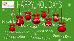 MERRY CHRISTMAS, HAPPY HANNUKAH, AND A JOYOUS KWANZAA