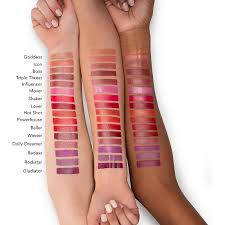SWATCHES FOR ALL OF THE BUXOM FULL FORCE LIP PLUMPING LIPSTICKS (NO COPYRIGHT INFRINGEMENT INTENDED)